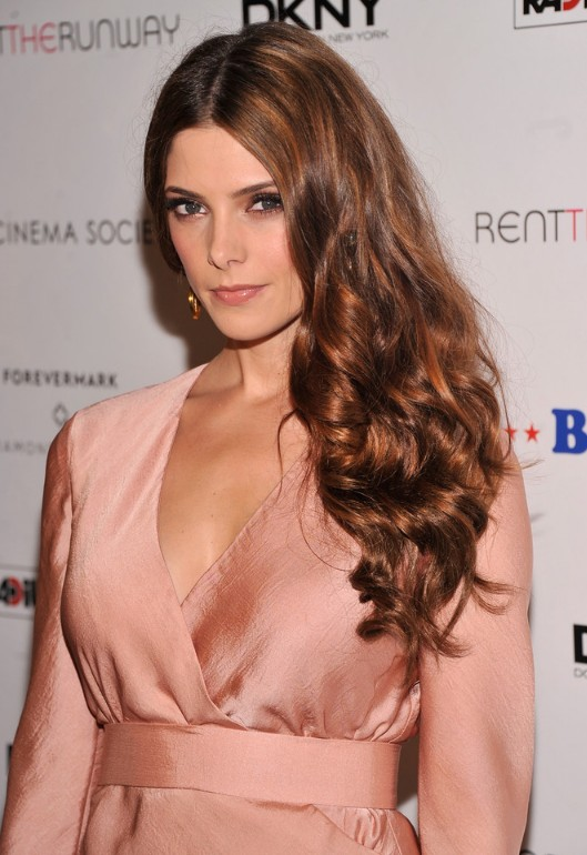 Ashley Greene Aubum Long Wavy Hairstyle for Thick Hair
