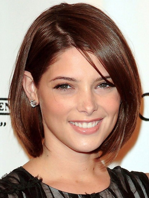 Ashley Greene Short Bob Hairstyle - Cute Short Cut with Bangs