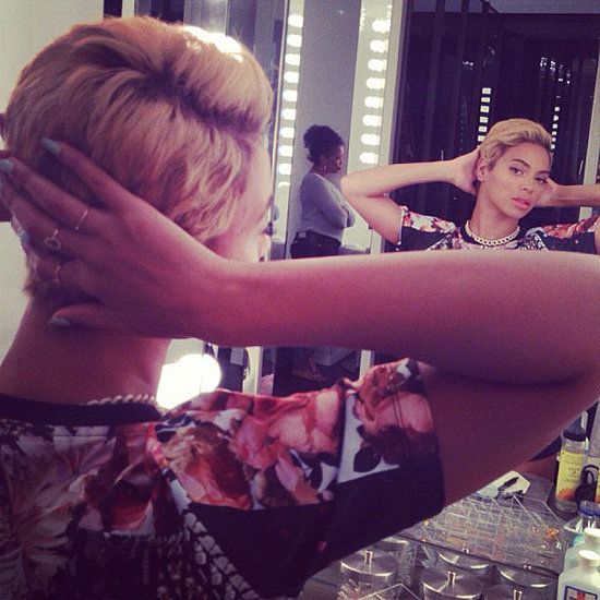 Beyonce Knowles Short Haircut: Blonde Pixie!!!