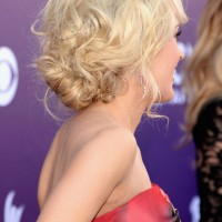 Carrie Underwood Messy Curly Updo for Wedding