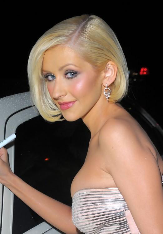 Christina Aguilera Bob Hairstyles