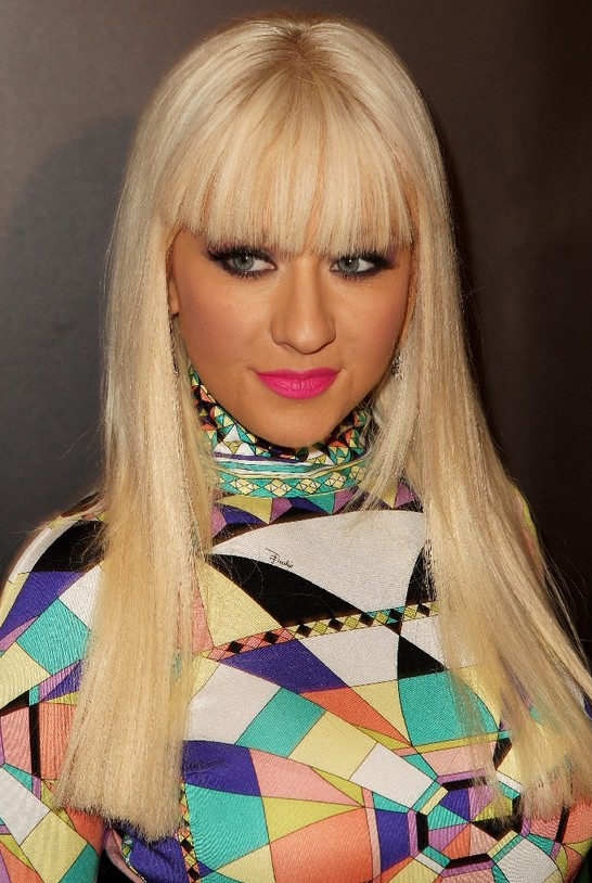 Christina Aguilera Long Straight Hairstyles