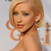 Christina Aguilera Short Haircut - Blonde Bob cut for Women