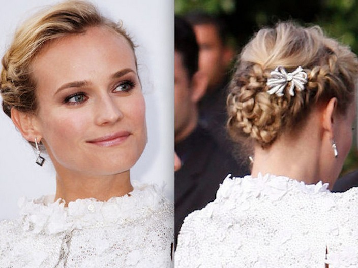 Diane Kruger Braided Prom Hairstyle