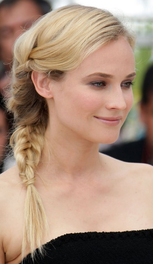 Diane Kruger Fishtail Braid