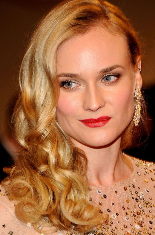 Diane Kruger Long Curly Hairstyles