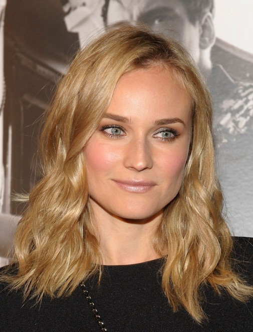 Diane Kruger Medium Length Hairstyles