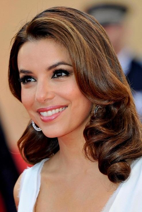 Eva Longoria Elegant Long Thick Hair 2015