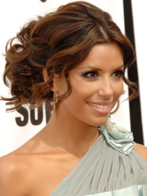 Eva Longoria Hairstyles for Wedding