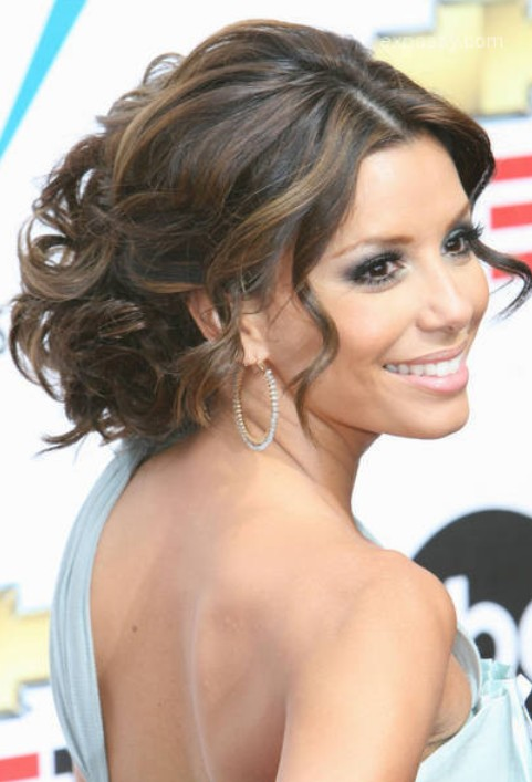 Eva Longoria Updo for Wedding