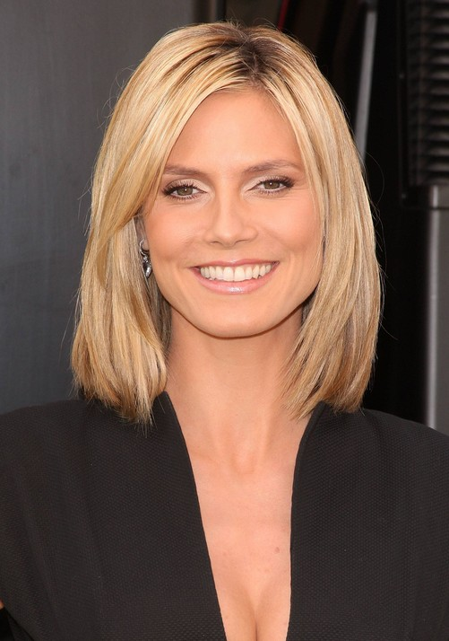 Heidi klum hairstyles celebrity latest hairstyles 2016 heidi klum fashion style heidi klum long bob hairstyle urmus Images