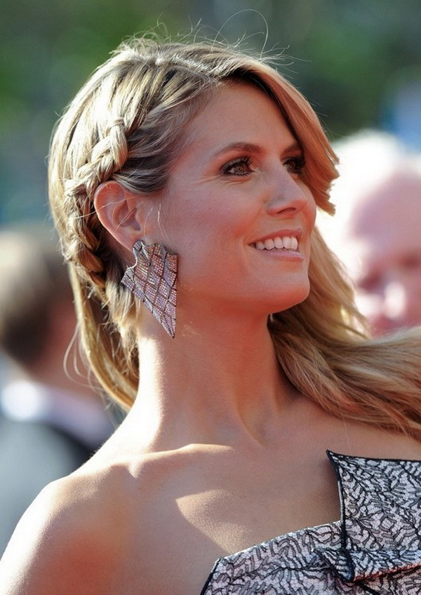 Heidi Klum Long Partially Braided