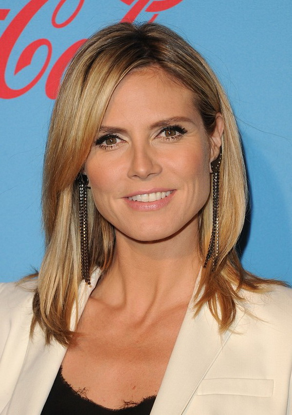 Heidi Klum Shoulder Length Layered Hairstyle