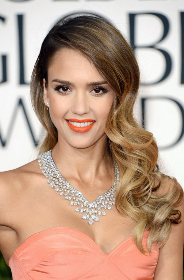 Jessica Alba Deep Side Part