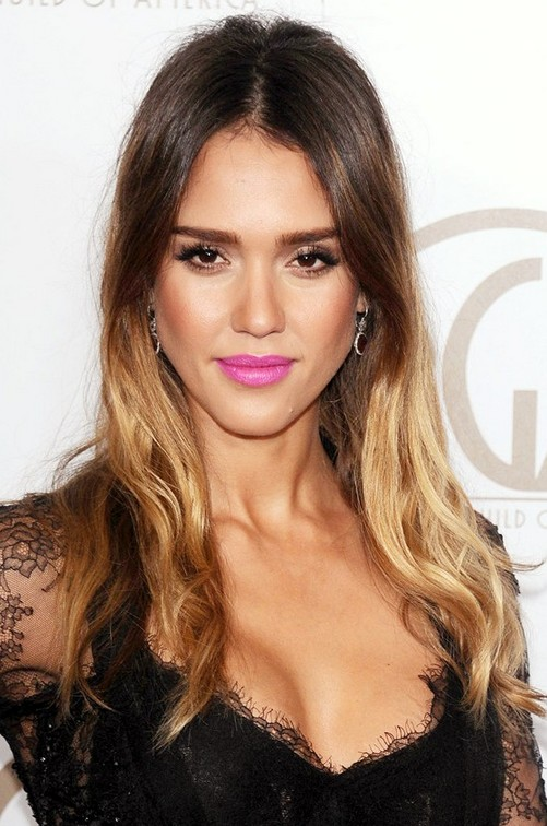 Jessica Alba Ombre Hair Style