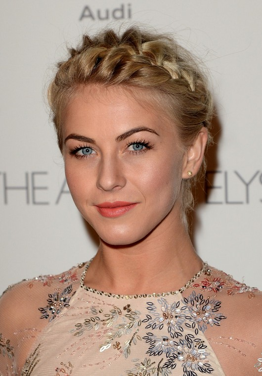 Julianne Hough Braided Helmet Updo