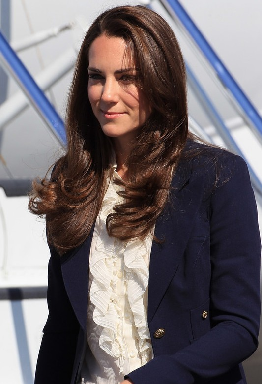 Kate Middleton Long Straight Hairstyles