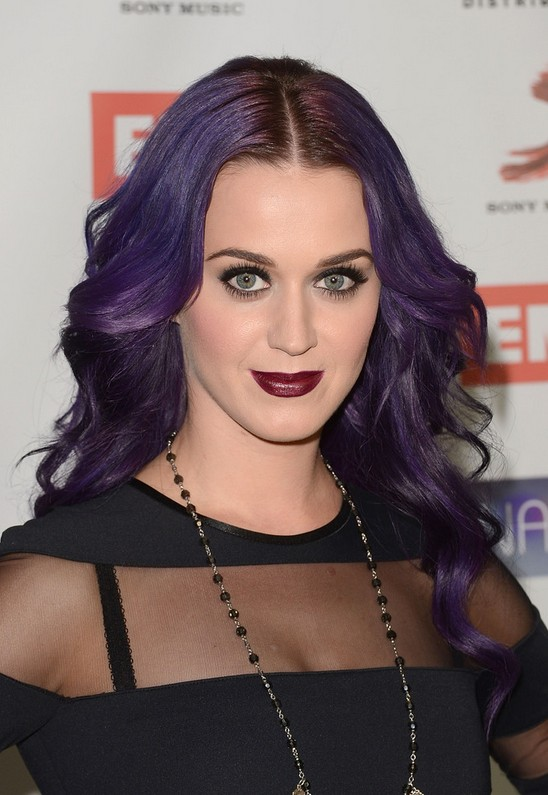 Katy Perry Gothic Edgy Hairstyle