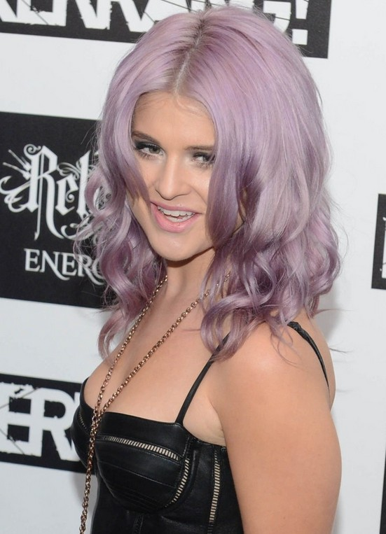 Kelly Osbourne Purple Hairstyle