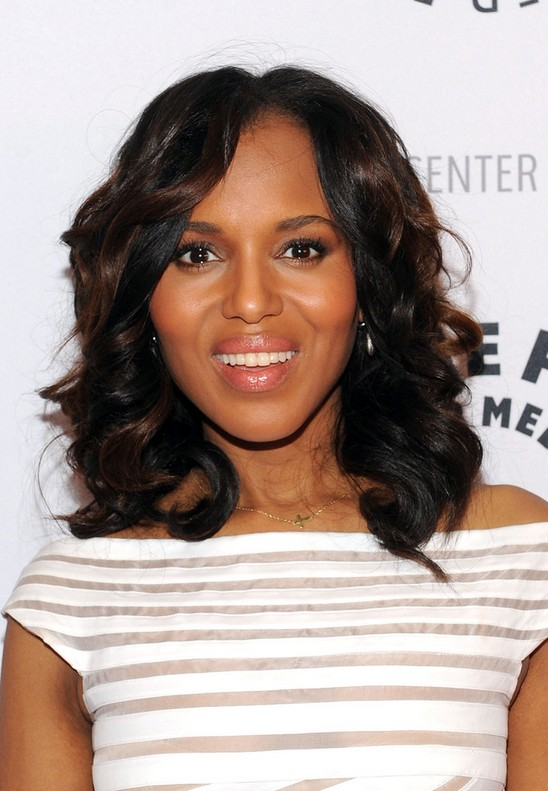 Kerry Washington Medium Hairstyle
