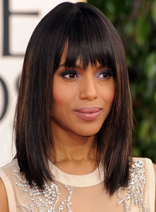 Kerry Washington Straight Hairstyles