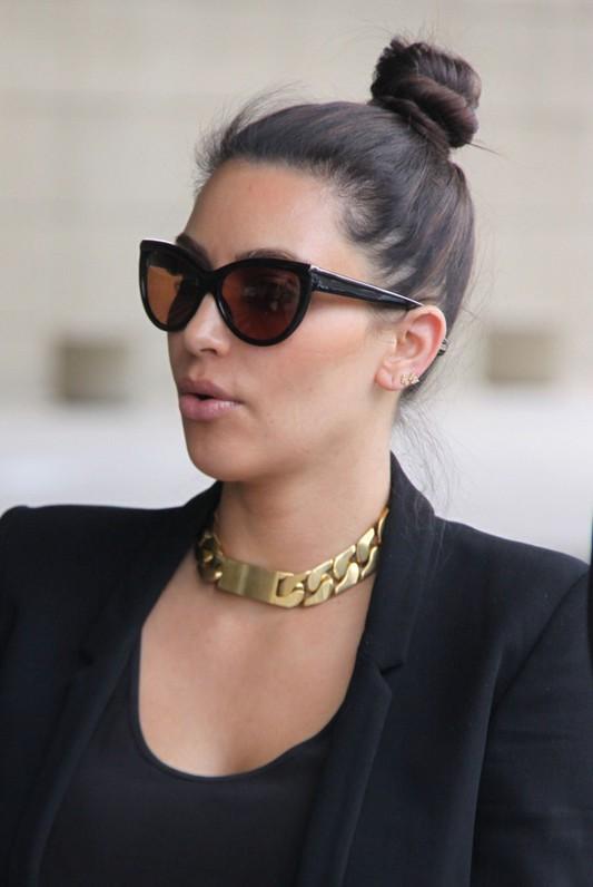 Kim Kardashian Hair Knot