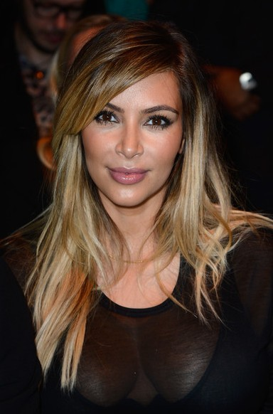 Kim Kardashian Layered Hairstyle