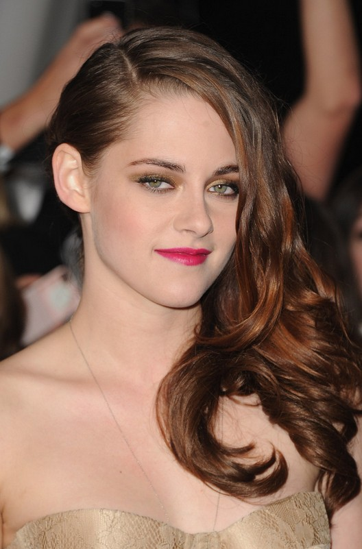 Kristen Stewart Deep Side Sweep Hairstyle