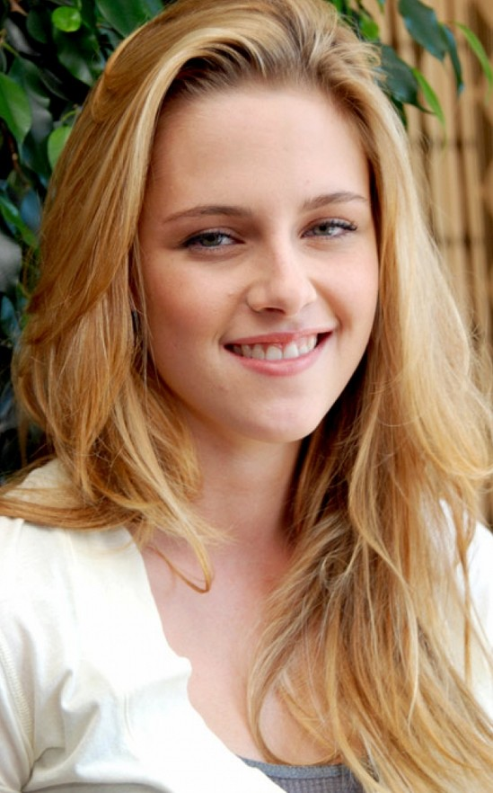 Kristen Stewart Long Blonde Hairstyles