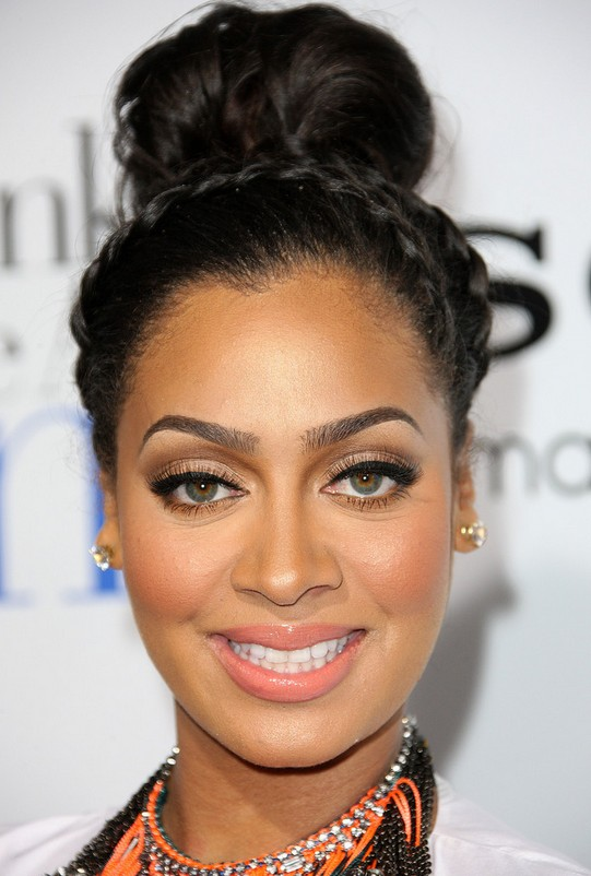 La La Anthony Braided Bun Updo