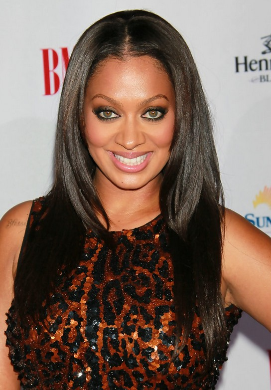 La La Anthony Long Sleek Hairstyle