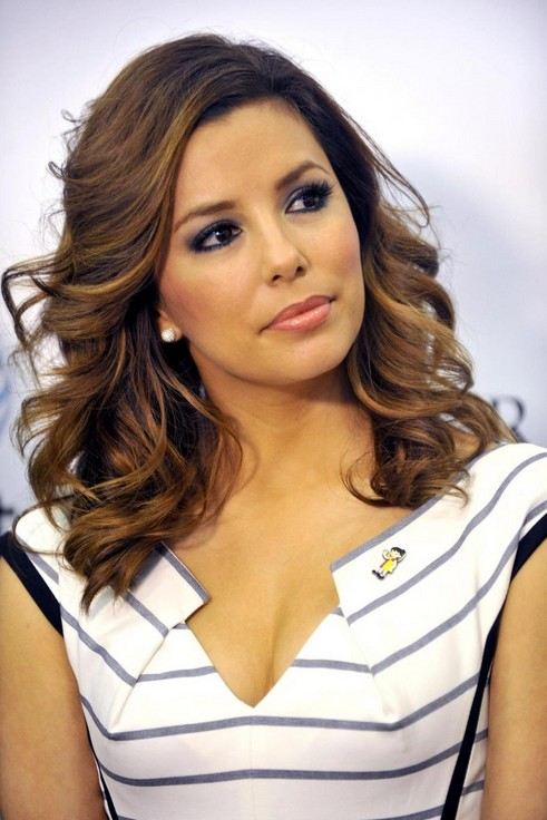 Long Hairstyles for Thick Hair from Eva Longoria