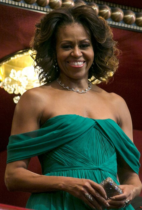 Michelle Obama Short Curly Hairstyles 2014