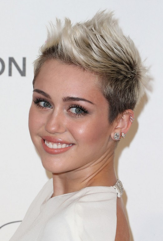 Miley Cyrus Short Fauxhawk