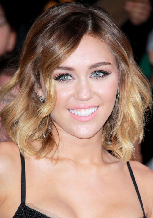 Miley Cyrus Short Ombre Hairstyle