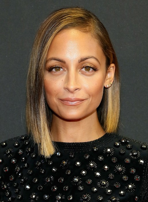 Nicole Richie Asymmetrical Hairstyle