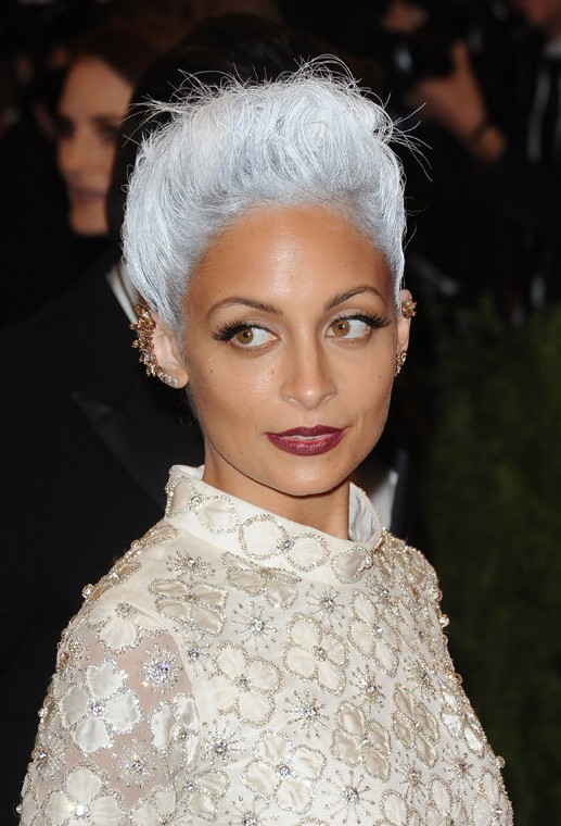 Nicole Richie Grayish-White Hair