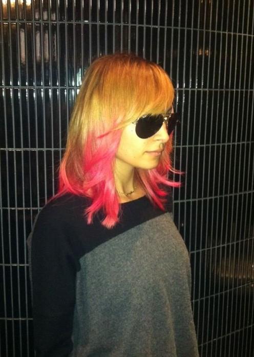 Nicole Richie Pink Hair Styles
