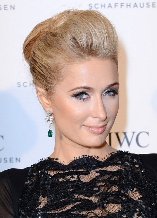 Paris Hilton Bobby Pinned Updo Hairstyles