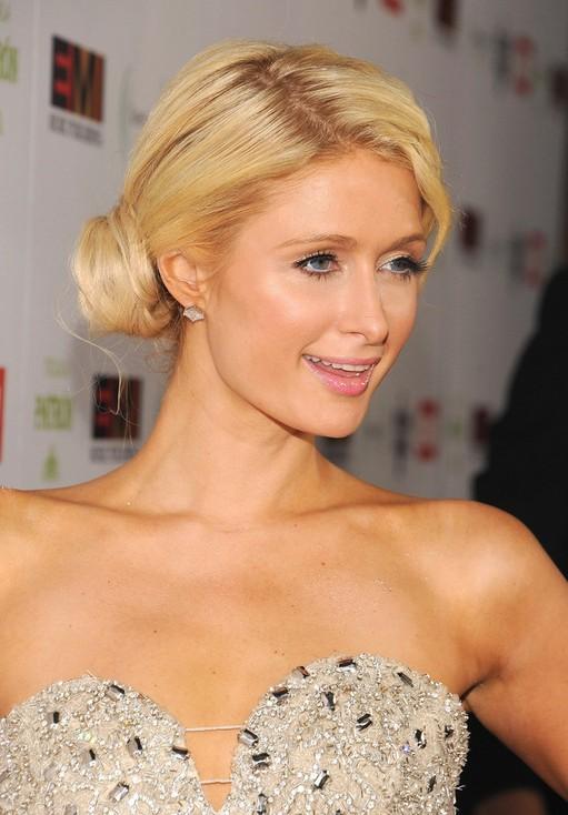 Paris Hilton Classic Bun Updo Hairstyles