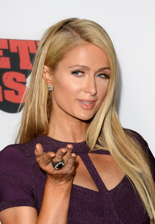 Paris Hilton Long Straight Hairstyles 2014