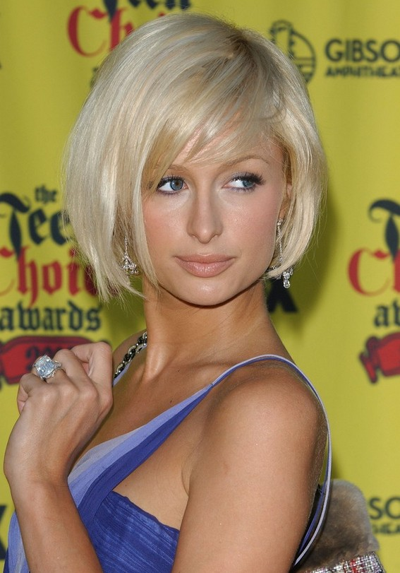 Paris Hilton Short Bob Haircut