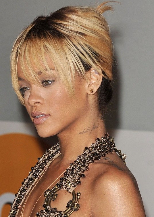 Rihanna French Twist