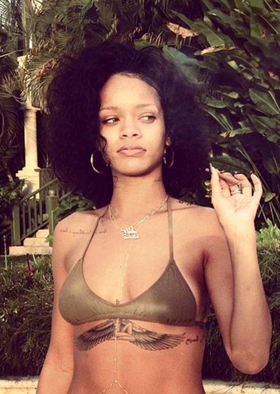 Rihanna Hairstyles 2014