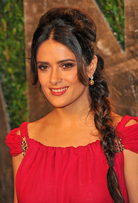 Salma Hayek Braided Hairstyles