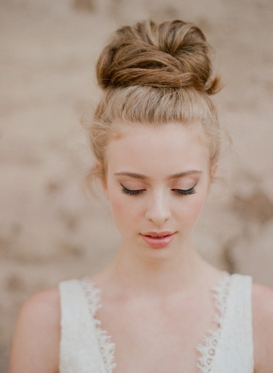 Wedding Hairstyle Ideas for 2014 High Ballerina Bun