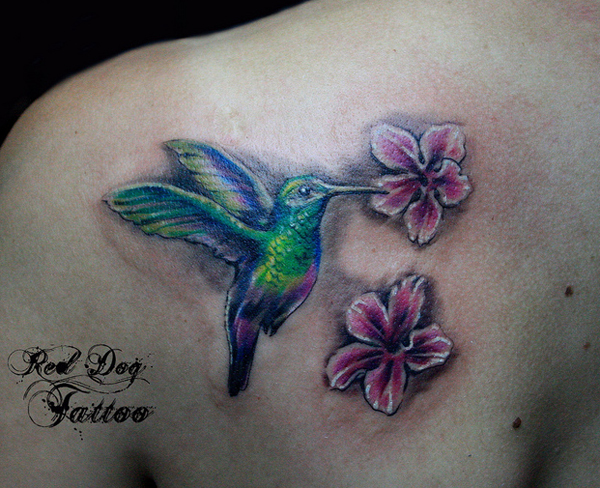 Colorful Birds Tattoo