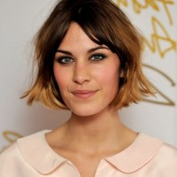 Alexa Chung Short Ombre Bob Haircut for Women