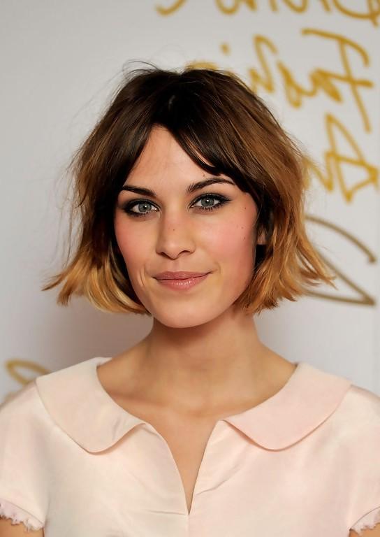Alexa Chung Short Ombre Bob Haircut for Women