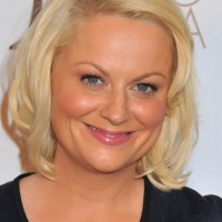 Amy Poehler Short Bob Hairstyle for Round Face Shapes